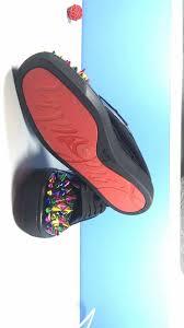 christian louboutin black leatehr color spike slippers photos083
