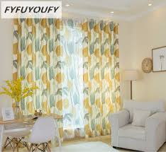 Yellow Curtains For Living Room Online Get Cheap Summer Room Aliexpress Com Alibaba Group