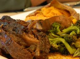 primal bites teriyaki boneless beef ribs with roasted broccoli