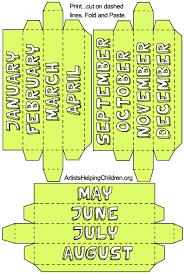 how to make a paper box perpetual calendar kids crafts