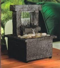 table top water fall mini indoor water fountain tabletop water fountain battery cordless