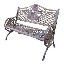 cast aluminum outdoor benches patio chairs the home depot