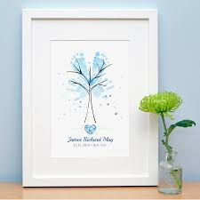baby hand and footprint tree by lillypea event stationery