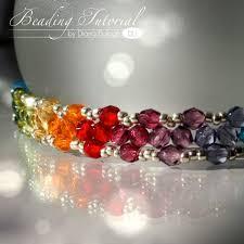free crystal bracelet images Free beading tutorial rainbow triangle weave bracelet beading jpg