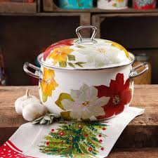 the pioneer woman poinsettia dutch oven 4 qt walmart com