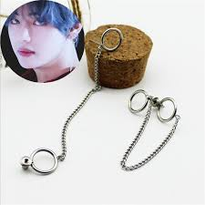 fashion necklace aliexpress images Youpop kpop bts bangtan boys album v dna stud earrings korean jpg