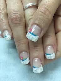 green bay packer glitter french gel nails gel nail designs