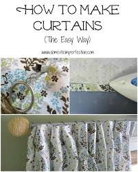 how to make curtains to make curtains domestic imperfection