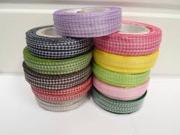 gingham ribbon 2 metres or roll x 5mm gingham ribbon sided check uk