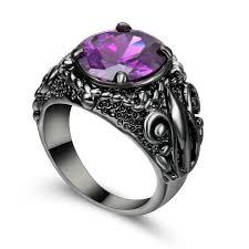wedding ring reviews size 8 purple amethyst wedding ring black rhodium plated