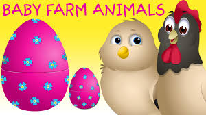 surprise eggs baby farm animals toys learn baby animals u0026 animal