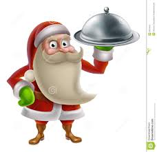 clipart santa and reindeer cooking clipground