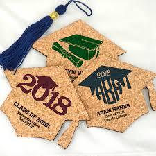 unique graduation favors graduation favors graduation cap cork coasters