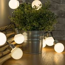 Battery Operated Table Ls 10 Led Bulb String Lights Battery Powered