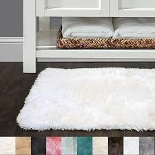 Colorful Bathroom Rugs Sweet Home Collection Faux Fur Bath Rug Available In 10 Colors