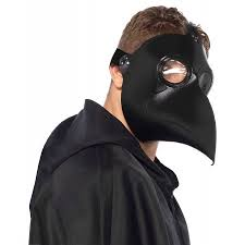 plague doctor mask faux leather plague doctor mask costume accessory walmart