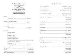 order of ceremony for wedding program wedding program templates wedding programs fast