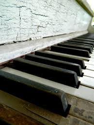 musical home decor vintage piano photography abandoned piano ivory keys musical