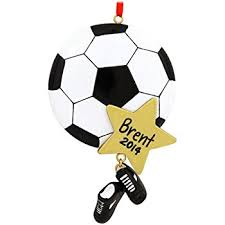 soccer ornaments to personalize personalized sports soccer christmas gift