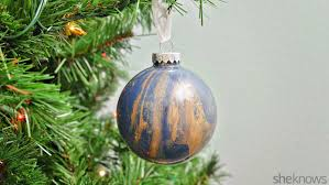 easy marbled glass ornaments are a diy anyone can handle