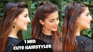 1 min cute u0026 easy everyday hairstyles for college work