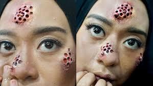 tutorial make up natural untuk kulit coklat trypophobia sfx makeup tutorial by inivindy thefashionhob