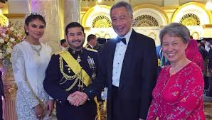 sultan hassanal bolkiah son pm lee attends celebrations for johor prince u0027s wedding singapore