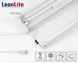 linkable led shop lights 4ft 40w linkable led utility shop light 4100 lumens energy star