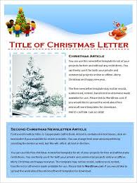 christmas letter publisher template template example