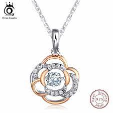 sterling necklace images Buy orsa jewels 925 sterling silver flower jpg