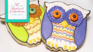 how to make halloween cookies cute easy owl cookies youtube