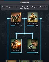 skill points for your commander guide mobile strike guide