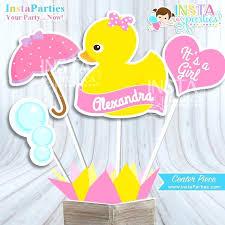Girl Rubber Duck Baby Shower Ideas Ducky Centerpiece Decor Center