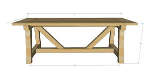 Free Wooden Dining Table Plans by Ana White Build A 4x4 Truss Beam Table Free And Easy Diy