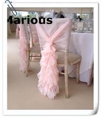 Pink Chair Sashes Online Shop Marious 50 Pcs Pink Chiffon Chair Sash Ruffled Chair