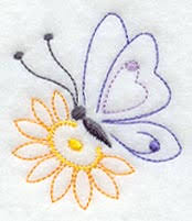 butterfly and flower vintage design c5282 from emblibrary