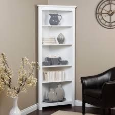 inspiring furniture small corner bookshelf shallow bookcase white
