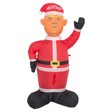 christmas inflatables donald make christmas great again lawn