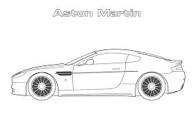 car coloring pages aston martin coloringstar