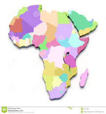 Map Of Africa Blank by Africa Color Map Royalty Free Stock Image Image 19416856