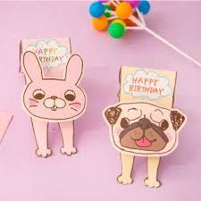 cute dog rabbit happy birthday card birthday party invitation