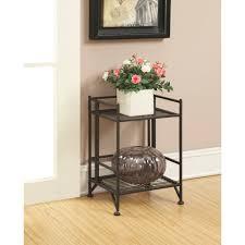 Metal Furniture Finishes Convenience Concepts Designs2go Metal Folding 2 Shelf Bookcase