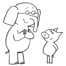 elephant and piggie coloring page mo willems pinterest mo
