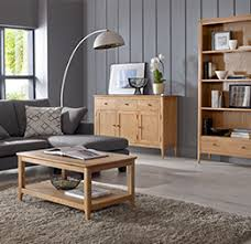 Living Room Furniture Solid Wood Oak Sheesham Quercus Living - Oak living room sets