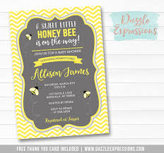 to bee baby shower printable honey bee baby shower invitation neutral gender