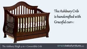 Million Dollar Baby Classic Foothill 4 In 1 Convertible Crib by Million Dollar Baby Ashbury Crib Video Youtube
