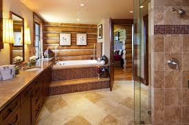 unusual inspiration ideas 19 log cabin bathroom designs home