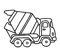 cement truck simple sketch coloring concrete mixer color
