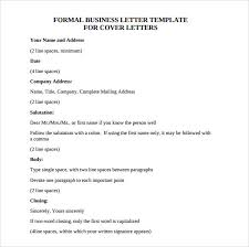 sample official business letter format 7 download free