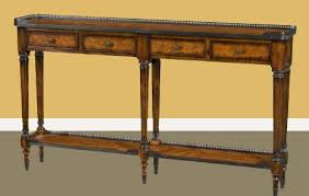 antique burl walnut narrow console table luois xv reproduction